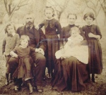 Davis, Henry, farrier & wheelwright, with his wife Maria & their 5 children,1889