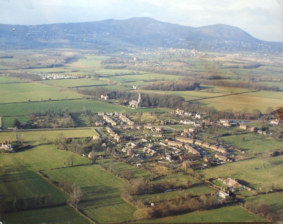 Hanley Swan, aerial view, c. 1970
