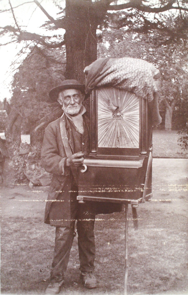 Hanley Swan, visit of the hurdy-gurdy man, 1890s