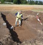 Derek Hurst working in Trench 1