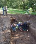 Digging and recording in Trench 2