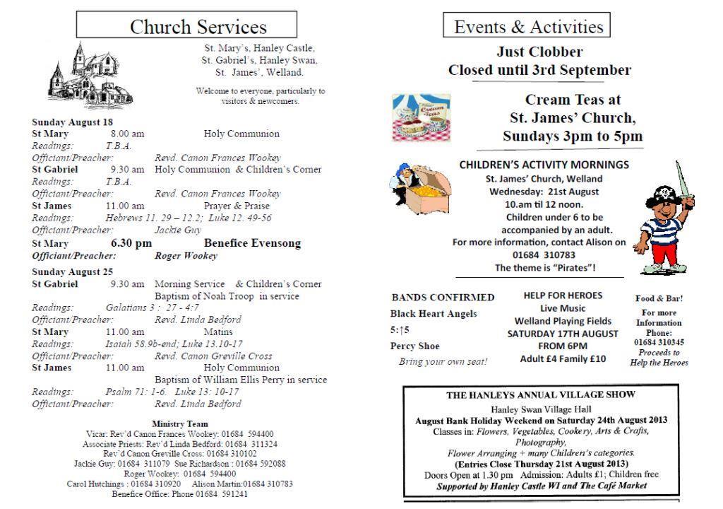 Church News 2013-08-18