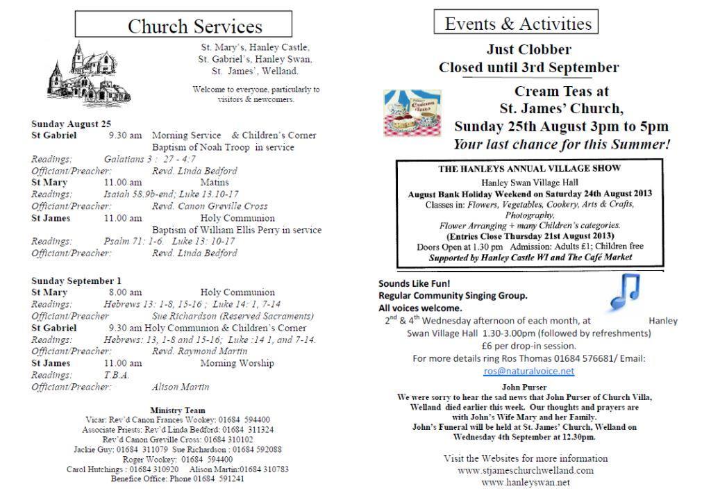 Church News 2013-08-25