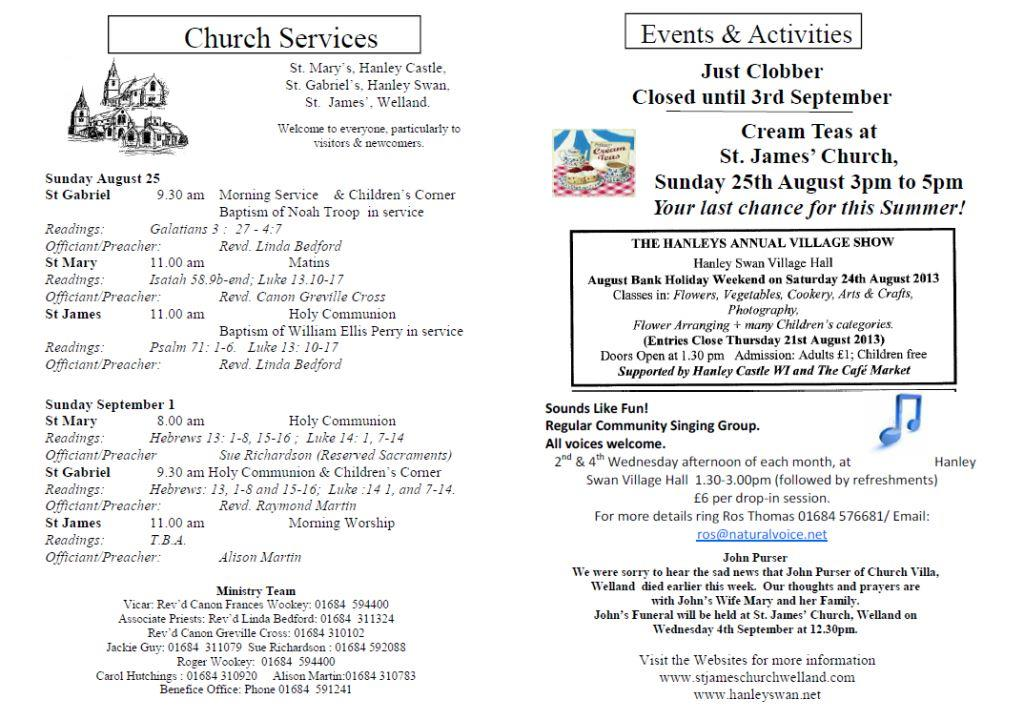 Church News 2013-08-25