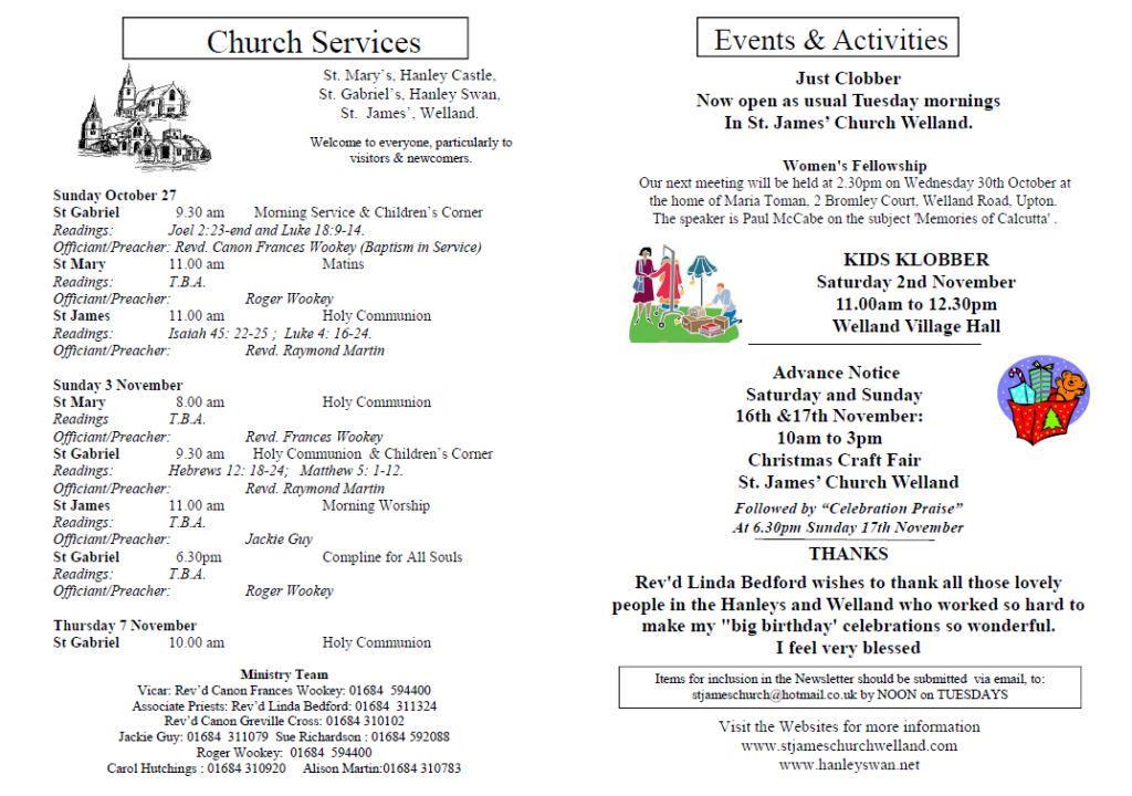 Church News 2013-10-27